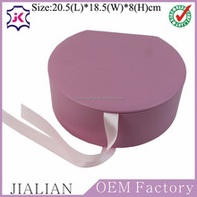 High end fancy custom jewelry gift packing box with silk ribbon