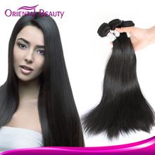 Silky straight wave 100% brazilian virgin human hair natural 1B color no tangle straight hair extension