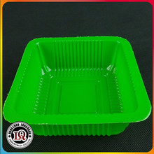 Square Green Disposable Plastic Vegetable Box