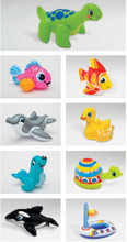 Floating Boat Plastic Surfing Board INTEX Children Toys Animal Inflatable Toys