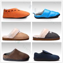 2015 new warm fur lining fashion mens winter indoor slipper