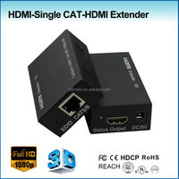 customized HDMI AV signal extender 60m with cat6 cable