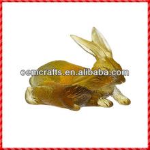 Nouveau venir personnalisé chinois résine or lapins livraison horoscopes
