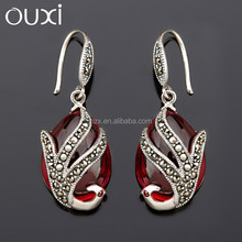 OUXI 2015 New arrival hot young lady earring accessories made with ancient silver