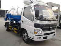 foton mini suction vacuum truck with vacuum pump