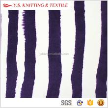 Zebra printed 93 polyester 7 spandex fabric, polyester elastane women handbag fabric