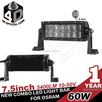 New 7.5inch 60w OSRAM led light bar, 5w OSRAM led light for off road 4wd atv truck ute use