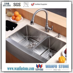 """36"""" Stainless Steel Farm Apron CURVE FRONT Kitchen Sink"""