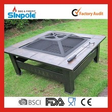 Trade assurance Sinople 2015 Best Quality Steel Fire Pit Table With Steel Leg
