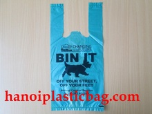 Block T- shirt plastic bag recycle use for dog wastes