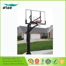 "Adjustable in ground basketball stand with 72"" backboard"
