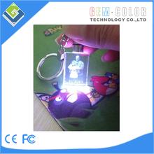 LED Crystal Key Chain/ Gift / Promotion / Wedding Gift for rectangle shape