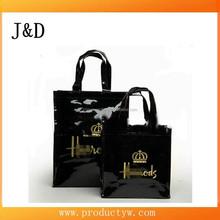 Supplier Fashion Pvc coated cotton shopping bag /tote bag