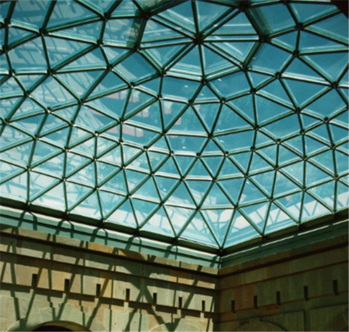 Outdoor Steel Tempered Glass Roof Dome Skylight For Building