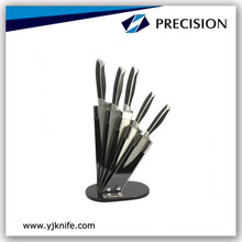 5pcs High Quality Stainless Steel Cutlery Set With Acrylic Storage Block