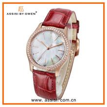 Assisi brand Luxury ladies fancy japan movement chrono diamond watch