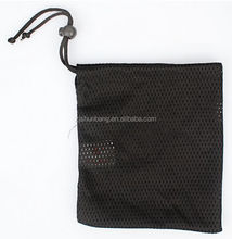 hot sale customed logo polyester mesh drawstring bag