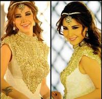 Custom Made Clothing Saudi Arabian Style Ebay Evening Dresses High Neck Beading Long Dress With A Train Evening Gown CJ751