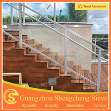 Balcony railing Stair railing tempered glass railing design for stair and veranda