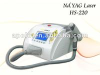 portable tattoo removal nd yag laser machine by shanghai med.apolo CE ISO approved
