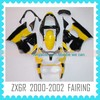 2014 Aftermarket ABS Custom Fairing Body Kit Quality ABS motorcycle Fairing for Kawasaki ZX6R 2000-2002