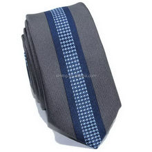 Fashionable promotional men's black skinny tie silk