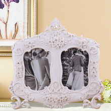 Resin changeable silver mini elegant photo frame christmas decoration ornaments waterproof snow globe pewter picture frame