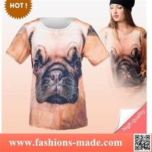 Women Yellow T-Shirts Print Pug Puppy