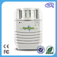 Newest & loud voice motion sensor voice recordable security alarm usb mp3 door chime