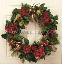 Lace towel Christmas wreath lights