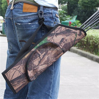 2015 Newest High Quality 19.5 Portable Camo Archery Bow Arrow Belt Quiver Forest Hunting Bag PVC Case