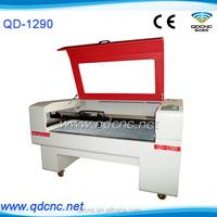 fabric laser cutting machine/wood die cutting laser cut machine/cnc laser cutting machine price QD-1290 skype:qdcnc09