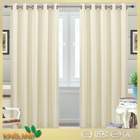 2016 New arrival voile stripe Ivory turkish sheer curtain fabric