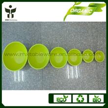Eco and bio bamboo fiber salad server bowls pass the test of LFGB FDA RoHS SGS Dishwasher safe