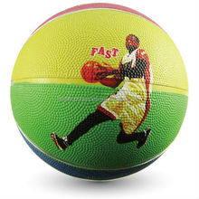 customized rubber basketball new design durable official size 6 rubber basketball