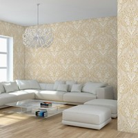 Foam backed vinyl flower design wallpaper water resistant wallpaper
