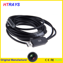 Profeesional 9 mm controlador digital de la cámara usb pc usb mini endoscopio cámara de inspección 5 M cable