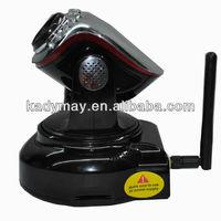 Modern& Adjustable high quality black mini wireless internet ip camera webcam cctv with Pan/Tilt,by best Manufacturer& Supplier