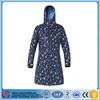 import new desigh high quality pu coated separable hood woman rain jacket