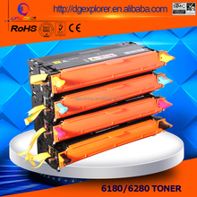 Compatible 6180 color toner cartridge used for Xerox Phaser 6180 6280 printer with double seals