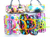 Colorful handbag glasses case