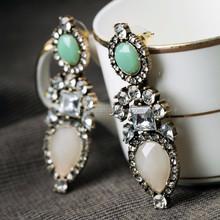 E15062202 Rhinestone Earring Findings Antique Gold Plated Earring Drop Earring Charms