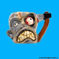 Tortured Hatched Head Zombie Mug