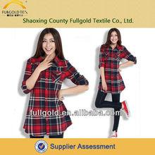 Fashion 100% dyde yarn wholesale cotton fabric for school girl's shirts
