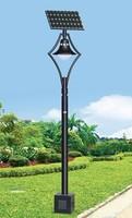 Net full system light street solar led garden light with solar cell gel battery pole