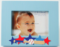 """Unique lovely baby star wood photo fame with 4x6"""" photo"""