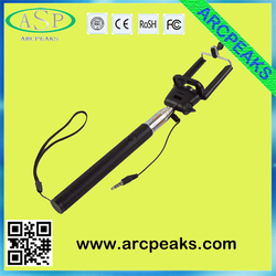 factory price cheapest cable wired selfie stick