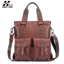 Stock branded men leather handbag shoulder bag