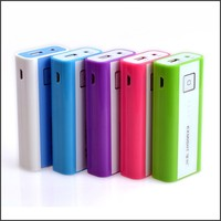 New coming slim li-ion battery power bank 5000mah with separate built-in cable