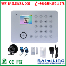 Newest GSM +PSTN DUAL network alarm system multi-language full touch alarm system IOS6.0 and android APP home alarms systems